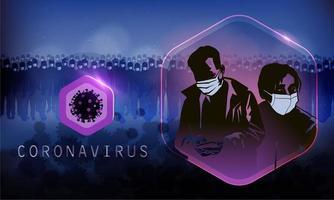 dunkles Coronavirus-Poster