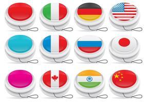 Yoyo-Vektoren mit Flaggen