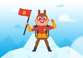 Vektor everest klättrare