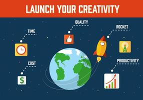 Kostenlose Rocket Vektor-Illustration