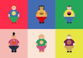 Freie Übergewicht Leute Vektoren