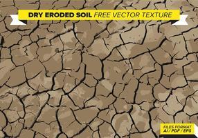 Trockene Erodierte Bodenfreie Vektor Textur