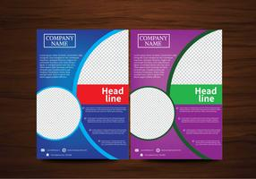 Moderne Vektor-Broschüre Flyer Vektor Design