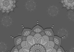 mandala mönster design i grå färg