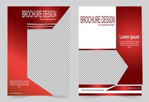 rote Broschürenvorlage mit Bildraum vektor
