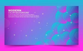 rosa och blå lutning bakground med överlappande cirklar vektor