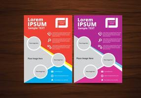 Kreis-Vektor-Broschüre Flyer