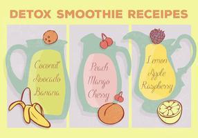 Free Smoothie Receipes Vektor Hintergrund