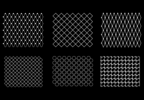 Gratis Fish Net Pattern Vector