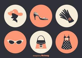 Kostenlose Damen Mode Vektor Icons