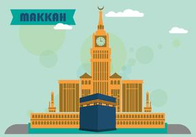 Makkah plattdesign vektor