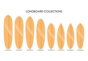 Longboard Sammlungen vektor
