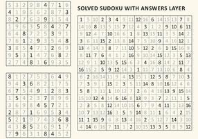 Gelöstes Sudoku vektor