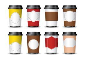 3D-Kaffee-Hülse vektor