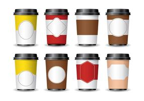 3D kaffemuffa vektor