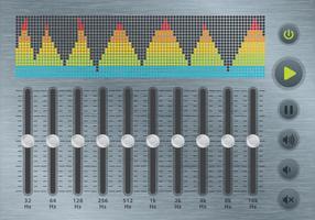 Equalizer und Soundbar vektor