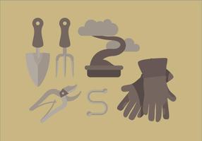 Vector Gartenarbeit Werkzeuge