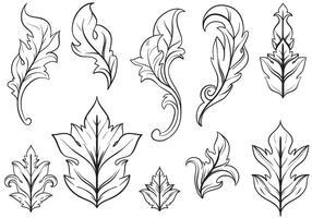 Kostenlose Blumen Ornamente Vektoren