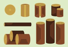 Free Holz Protokolle Vektor Packung