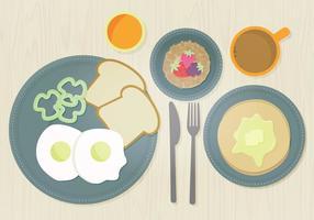 Vektor frukost illustration
