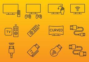 HDMI und Bildschirm Icons