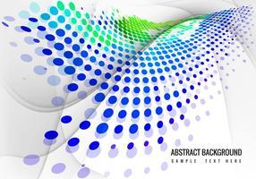 Free Colorful Halftone Wave Hintergrund Vektor