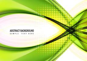 Free Vector Green Welle Hintergrund