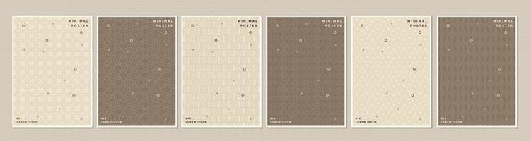 braun-cremefarbenes Cover oder Poster-Set