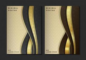 minimal abstrakt affischuppsättning vektor