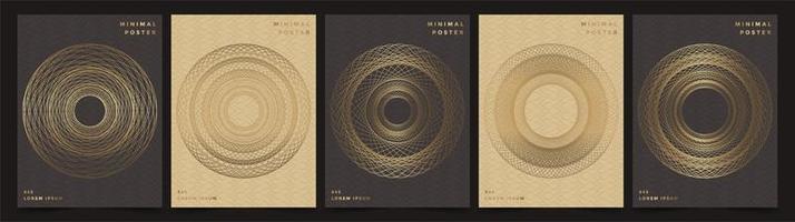 geometrische Hintergründe mit braunen und schwarzen Farben.