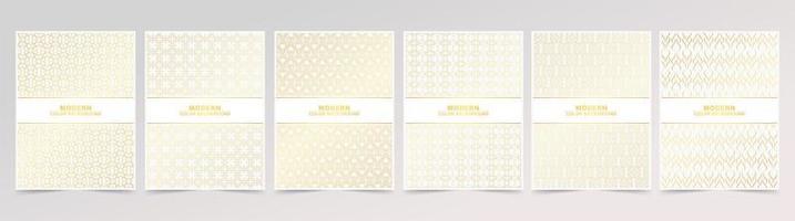 minimal täckning i design av guldlinjemönster vektor