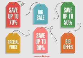 Hanging Discount Etiketten vektor