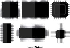 Mikrochip vektorikoner vektor