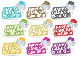 Glückliche Ganesh Chaturthi Titel