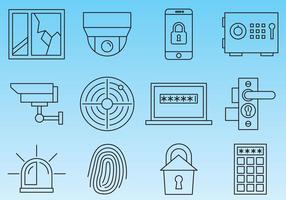 Säkerhetslinje ikoner