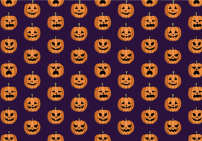Gratis Pumpkin Pattern Vector