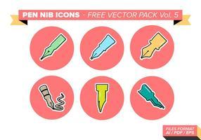 Pen Nib Icons kostenlos Vector Pack Vol. 5
