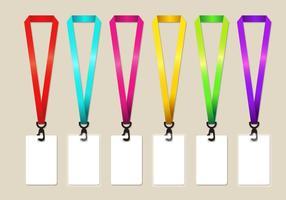 Regnbåge nyckelband vektor uppsättning