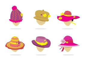 Isolerad Ladies Hat Vector