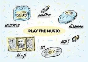 Kostenlose Musik spielen Vektor Symbole