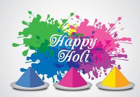 Happy Holi Hintergrund Vektor