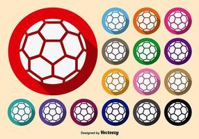 Symmetriska vita handbollvektorikoner