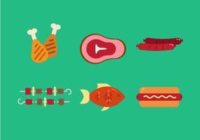 Vektor Familie Picknick-Lebensmittel