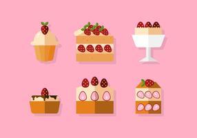 Vektor jordgubbe shortcake