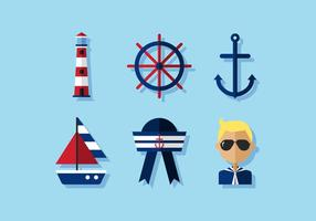 Vektor Nautical Icon Set