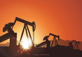 Gratis oljefält vektor bakgrund
