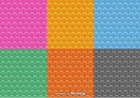 Vektor sömlösa mönster av bubbla wrap set