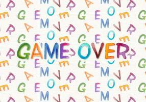 Spel över gratis vattenfärg vektor bakgrund
