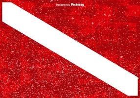 Dyk flagga med Grunge Overlay Textures vektor