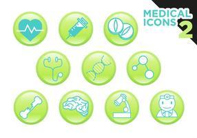 Medicinska ikoner Vector Free